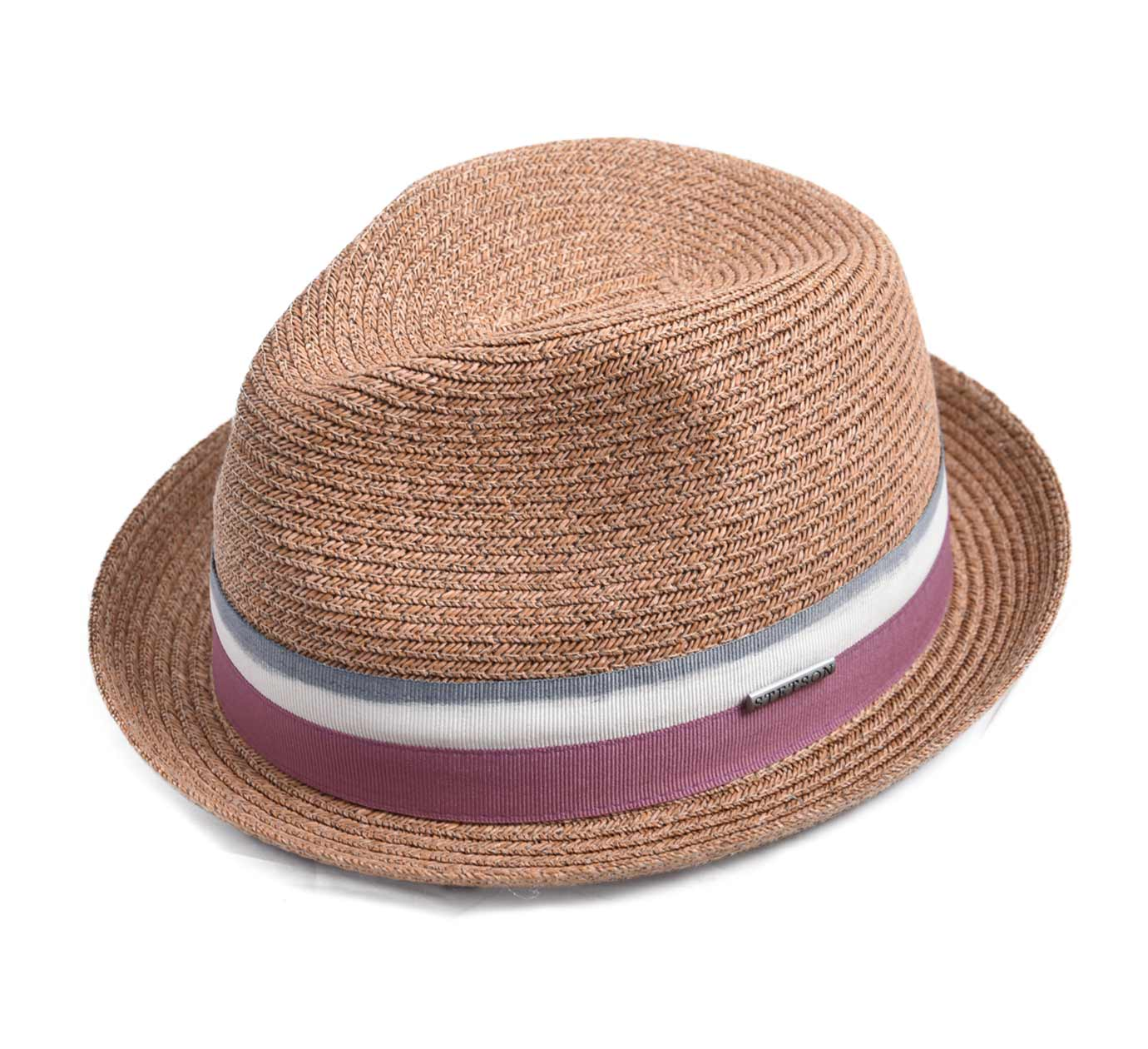 chapeau paille Stetson Striped Ribbon Player